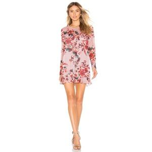 NEW Lovers + Friends Pink Bella Mini Floral Dress